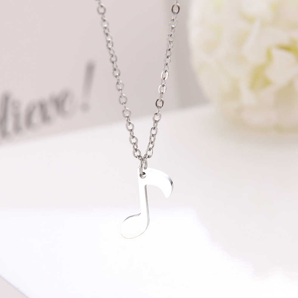 DGIDDK collier acier inoxydable collier basse aiguë femme chaîne pendentif collier bijoux de fiançailles D9