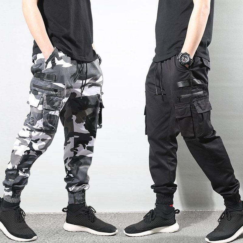 Fashion Streetwear Men Jeans High Quality Camouflage Military Trousers Cargo Pants Men Multi Pockets Hip Hop Joggers Pants Homme
