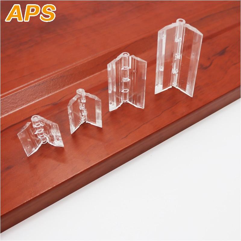 10Pcs 25X33mm 30X33mm 45x33mm 65x42mm  Plastic Folding Hinges Transparent Plexiglass Hinge Durable Clear Acrylic
