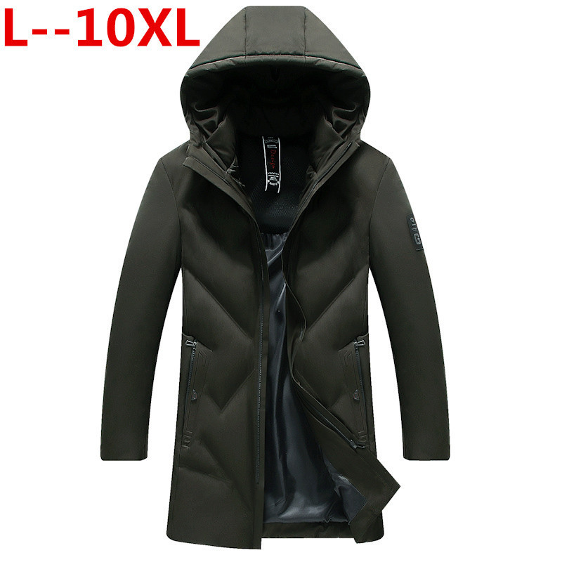 10XL 8XL 6XL New Arrival Winter Long Jacket Cotton Thick Male High Quality Casual Fashion Parkas Cotton Coat Men Brand Clothing