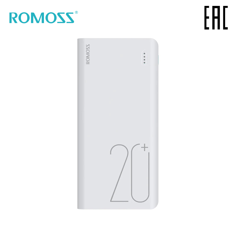 External Battery Romoss Sense 6 + 20000 MAh Portable Bank Mobile Battery Portable Battery [delivery From Russia]