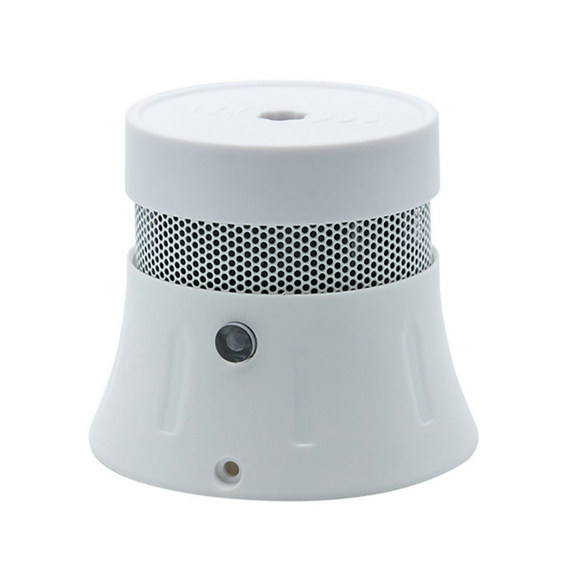 Independent Smoke Sensor Home Security Photoelectric Smoke Detector White Plastic