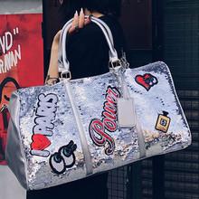 2019 projektant nowy najlepsza jakość Bling torby pojemna torba torba na drobiazgi torby na ramię które warto przenośna torba wodoodporny # G2 tanie tanio ISHOWTIENDA zipper Wszechstronny 10cm List 610g 0813 Miękkie 25cm Moda Polyester WOMEN 15cm Podróż torba