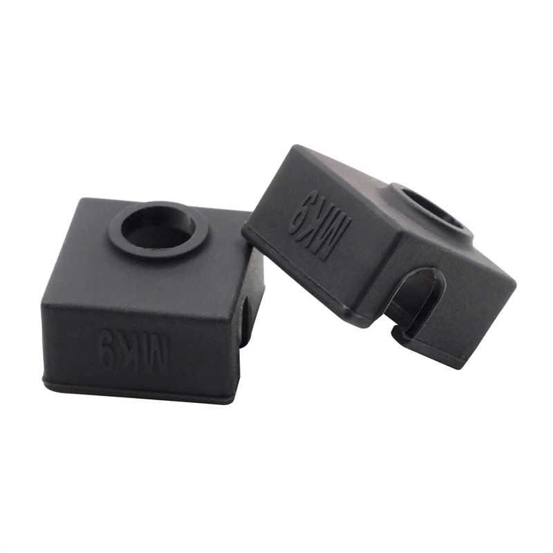 2pcs Durable 3D Stampato Accessori Della Copertura Del Silicone Hot End Calzino Coperture Per Creality CR-10 10S S4 S5 Ender 2/3/4/5 Pro