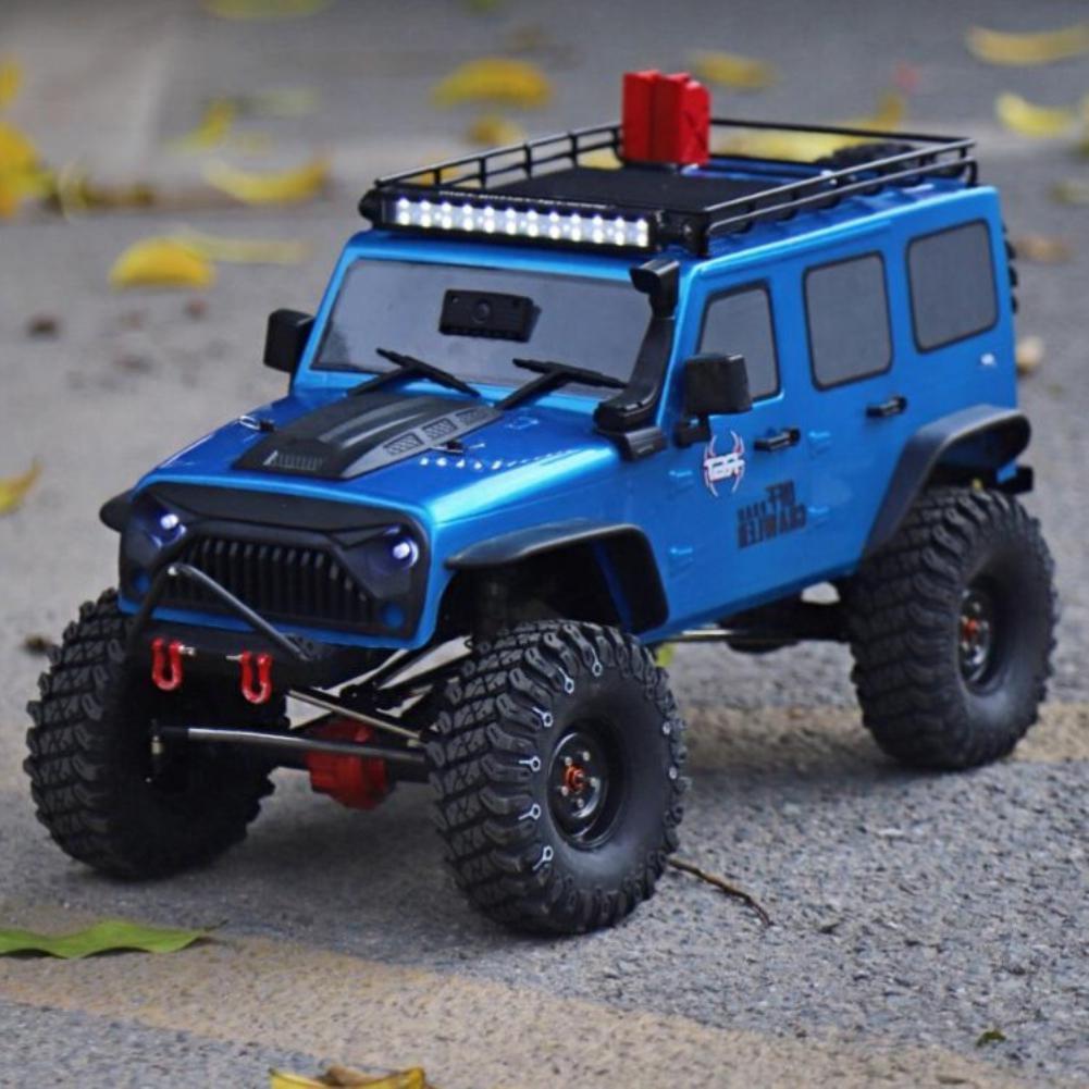 HSP illimité télécommande escalade voiture 2.4GHz RC 4WD tout-terrain véhicule Simulation véhicule avec feux de toit et porte-bagages