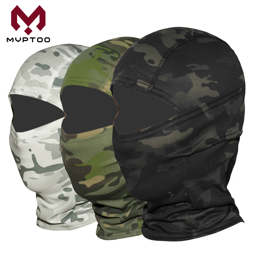 Military Tactical Balaclava Cap CP Camouflage Face Cover Breathable Moto Motorcycle Motocross Cycling Army Biker Head Hat Men