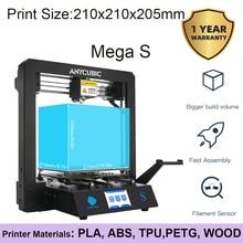 Anycubic PLA 3D принтер i3 Mega S полностью металлический каркас промышленный класс Высокая точность принтер наборы для 3d печати DIY 3D ducker