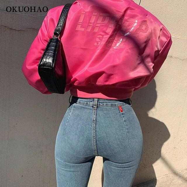 Women's Jeans High Waist Stretch Skinny Denim Trousers 2021 Blue Retro Washed Fashion Sexy Elastic Slim Pencil Pants Oversize 6