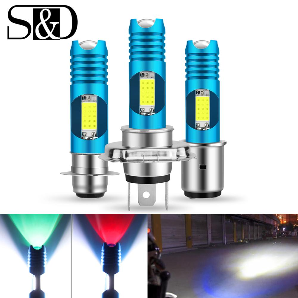 RGB H4 H7 LED P15D H6 BA20D LED Motorcycle Headlight Blub 12V Moto Light HS1 For Moped Scooter Motorbike ATV Lamp Hi Lo Beam