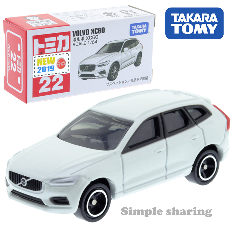 Takara Tomy Tomica No.22 Volvo Xc60 Sports Car Toy Scale 1:64 Diecast Roadster Mould Funny Kids Doll Pop Puppet