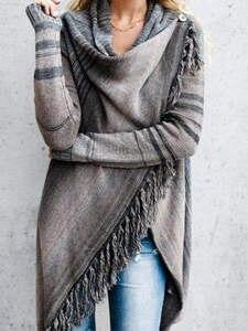 Cardigan Shawl Irregular-Sweater Women's Knitted Long Autumn Casual Tassel Spring Hot-Sale