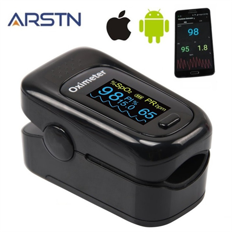Android IOS Bluetooth 4.0 Fingertip Pulse Oximeter Home Oximetro Pulso Oxymeter Pulsioximetro Finger Heart Rate Monitor CE OLED