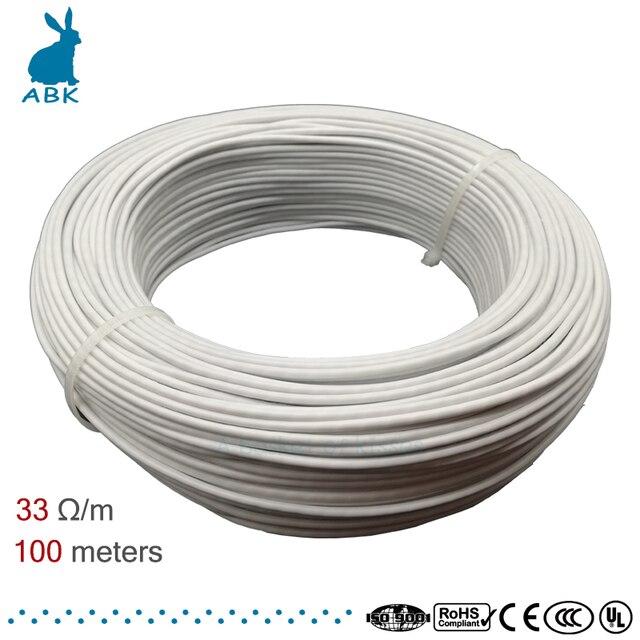 Силиконовая Резина 12K 33ohm углеродное волокно нагревательный кабель провод для обогрева пола электрическая Горячая линия Высокое качество н...