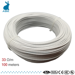 silicone rubber 12K 33ohm carbon fiber heating cable floor heating wire electric hotline high quality heating cable