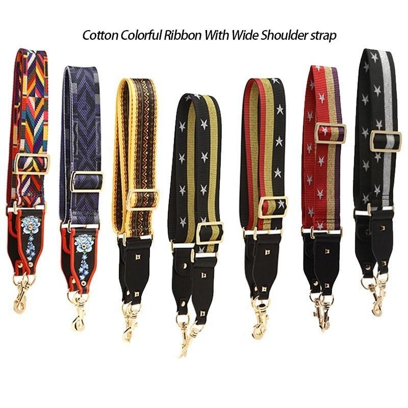BAMADER Canvas Women Fashion Colored Shoulder Strap Ladies Bag Accessories Adjustable Removable Wide Shoulder Bag Strap Hot Sale