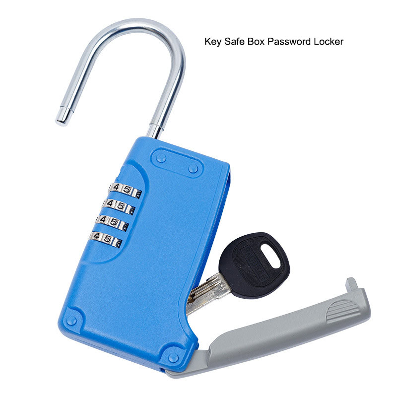 Free Installation Key Safe Padlock Hidden Key Storage Box, Security Password Locker Stainless Steel Key Box For Home Company