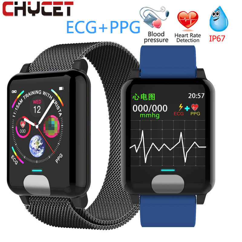 Chycet Smart Bracelet ECG PPG Blood Pressure Measurement Watch Women Heart Rate Monitor Fitness Band With Activity Tracker image