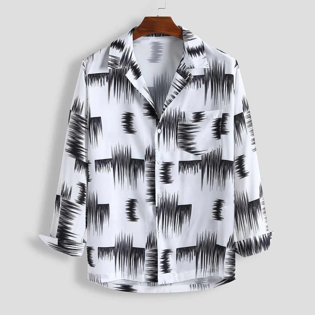 Мужская летняя рубашка с длинными рукавами, Пляжная гавайская рубашка с цветочным принтом, свободная рубашка с длинными рукавами, пляжные блузки, Camisa Fe, мужские ina