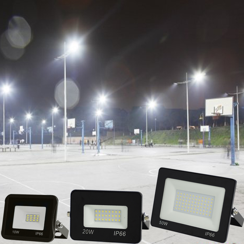 10W 30W 50W 100W 220V  LED FloodLight Reflector LED Flood Light Waterproof IP65 Spotlight Wall Outdoor Lighting search light