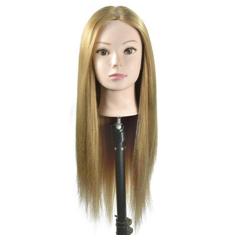 Pro Salon Hairdressing Mannequin Head Dolls for Makeup Practice with Table Clamp Environmental Protection and Durability