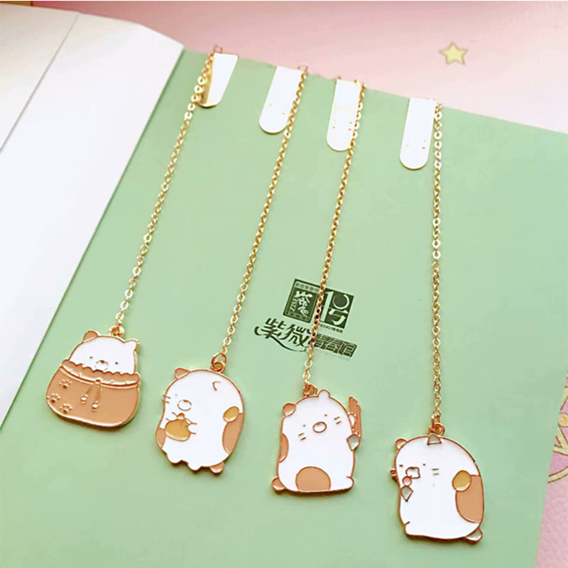 36 Pcs/lot Metal Sumikko Gurashi Pendant Bookmark Cartoon Book Marks For Book School Office Supplies Stationery Gift