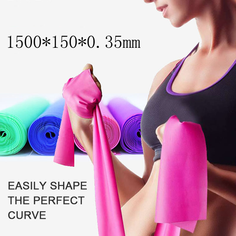 Fitness Exercise Resistance Bands Rubber Yoga Elastic Band 150cm Resistance Band Loop Rubber Loops For Gym Training