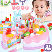 Kitchen-Toys Cutting Fruit Cake-Food Pretend-Play Plastic Educational Baby Kids Children