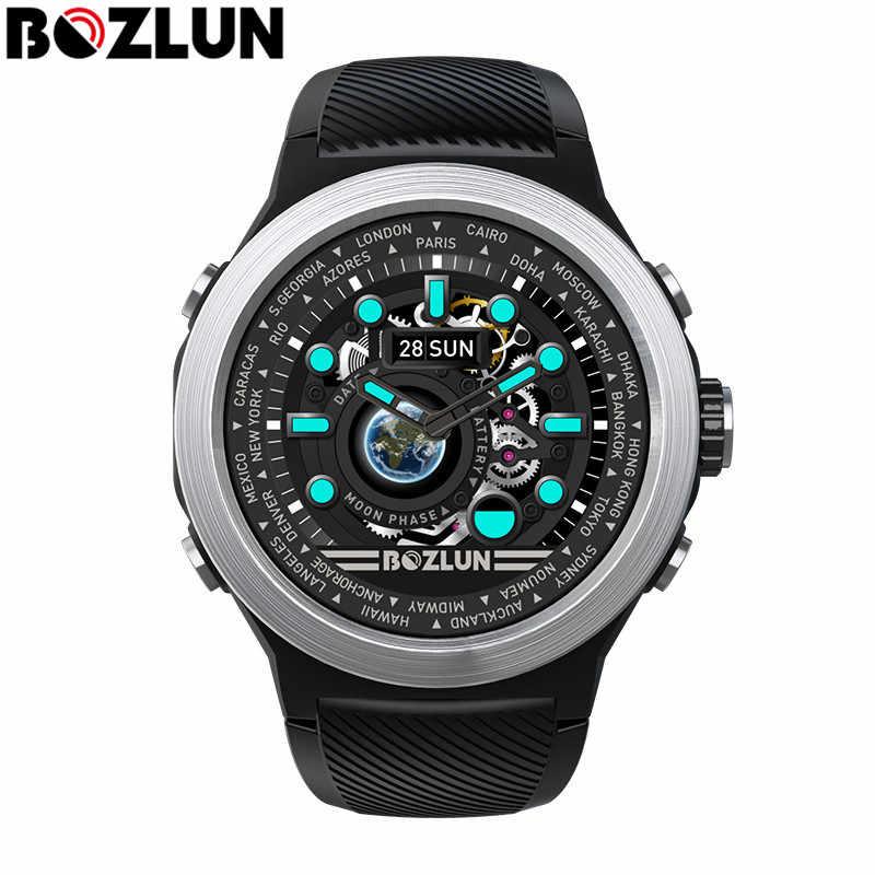 Bozlun W31 1.44 インチフルスクリーンタッチ腕時計男性の心拍数モニター IP68 防水スマートウォッチ android ios 電話