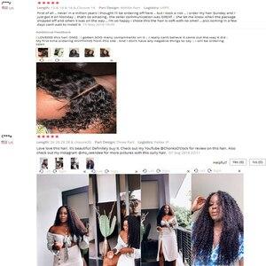 Image 2 - Mshere 4 Stks/partij Peruaanse Diepe Krullend Wave 3 Bundels Met Sluiting Niet Remy Hair Gratis Deel Lace Sluiting Met Menselijk haar Bundels 1B #