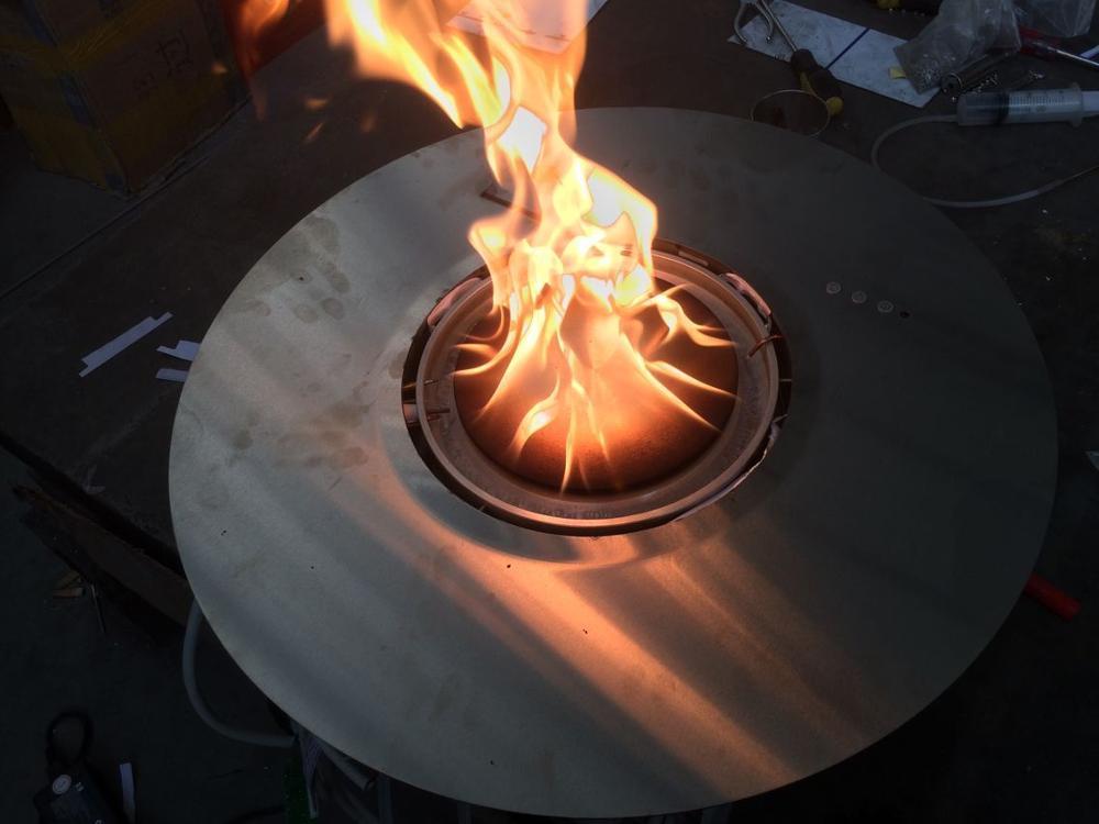 Hot Sale Smart Bio Ethanol Burner Alcohol Round Fireplace Remote Modern