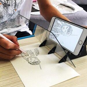 Image 2 - 내구성 휴대 전화 홀더 스케치 마법사 추적 드로잉 보드 광학 그리기 프로젝터 그림 반사 추적 라인 테이블