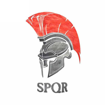 Hot SPQR Rome Spartan Creative Car Sticker Creative Decal Suitable All Types of Vehicles DIY Exterior Waterproof KK13*9cm Vinyl image