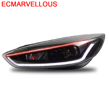 Automovil Neblineros Para Auto Exterior Cob Assessoires Led Daytime Running Headlights Car Lights Assembly 17 FOR Ford Focus
