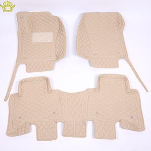 Image 1 - 3D Auto Fußmatten Für Toyota Land Cruiser 100 200 Prado120 150 Wasserdichte Leder Fußmatten Auto styling Innen auto Teppich Matte