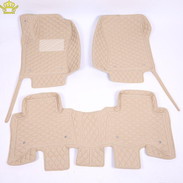 3D Auto Fußmatten Für Toyota Land Cruiser 100 200 Prado120 150 Wasserdichte Leder Fußmatten Auto styling Innen auto Teppich Matte