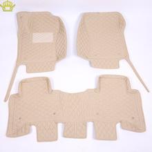 3D Car Floor Mats For Toyota Land Cruiser 100 200 Prado120 150 Waterproof Leather Floor Mats Car styling Interior Car Carpet Mat