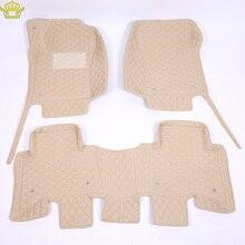 Tapis de sol de voiture 3D imperméable en cuir, intérieur de voiture, pour Toyota Land Cruiser 100 200 Prado120 150
