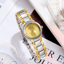 2021 New Arrival Luxury Brand Golden Dress Watches For Women Trendy Stainle Steel Feminino Clock Saat Reloj