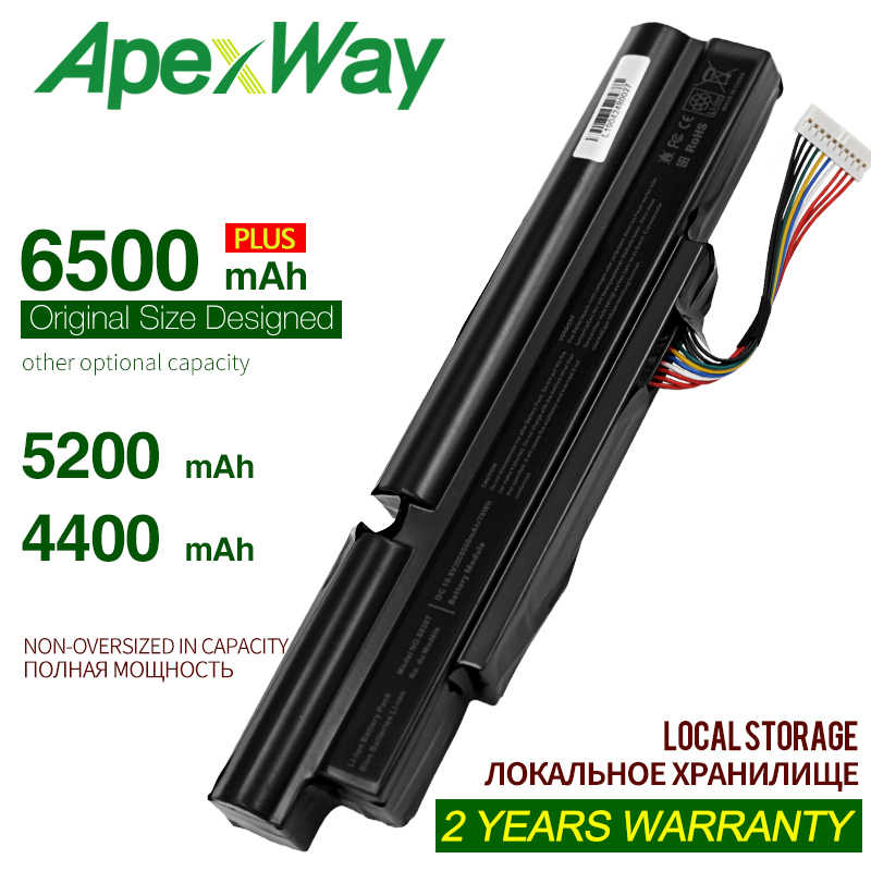 Batterie pour ordinateur portable ApexWay 4400mah pour Acer Aspire inteminex 3INR18/65-2 AS11A3E AS11A5E 4830TG 5830T 3830TG 4830T 5830TG 3830T