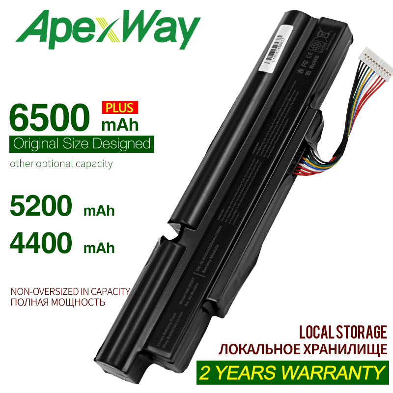 ApexWay 4400mah Laptop Battery For Acer Aspire TimelineX 3INR18/65-2 <font><b>AS11A3E</b></font> AS11A5E 4830TG 5830T 3830TG 4830T 5830TG 3830T image