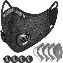 Пылезащитный респиратор # H30 с 4 фильтрами, 4 выхлопных клапана, многоразовый пылезащитный респиратор на половину лица, велосипедная маска, м...