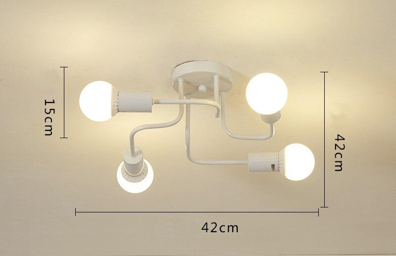 decoração casa sala estar quarto e27 220 v luzes teto