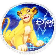 New Simba Lion King Nala Summer Home Microfiber Shower Beach Towel with Tassels for Children Round Shape Towels 150x150cm