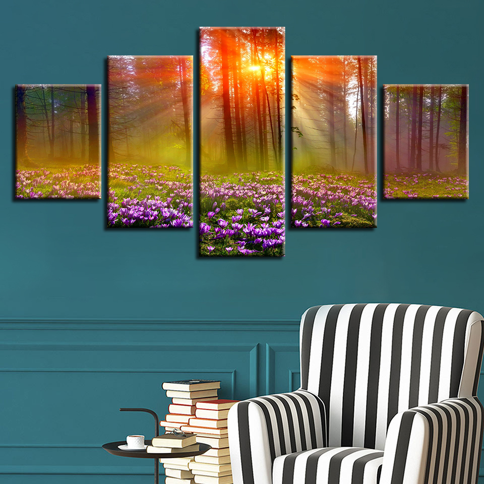 H465de0363e22428f9ea04215f07d8005R Canvas HD Prints Paintings Wall Art Home Decor 5 Pieces Welcome Dropshipping Wholesale We Can Provide All The Pictures
