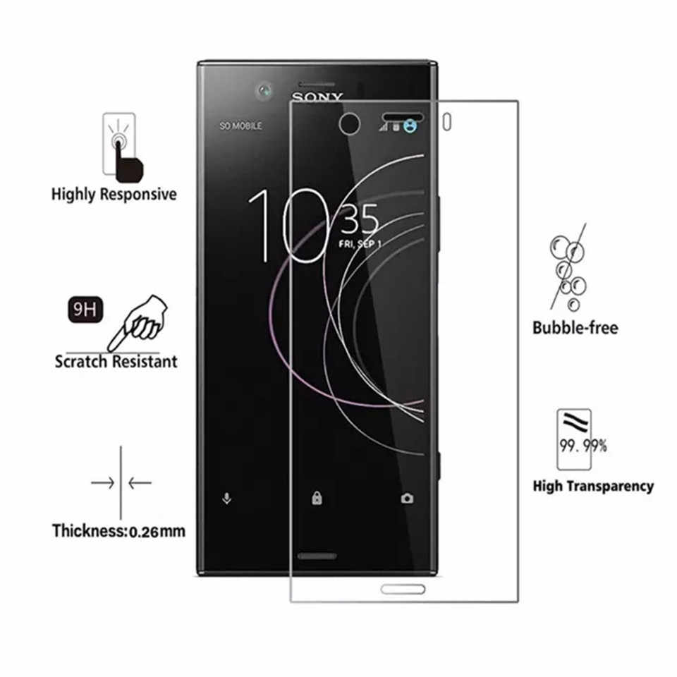 2pcs Tempered glass for Sony Xperia 1 10 Plus L3 L2 L1 XA1 XA2 Plus Ultra 0.3mm 2.5D 9H screen protector film wholesale price