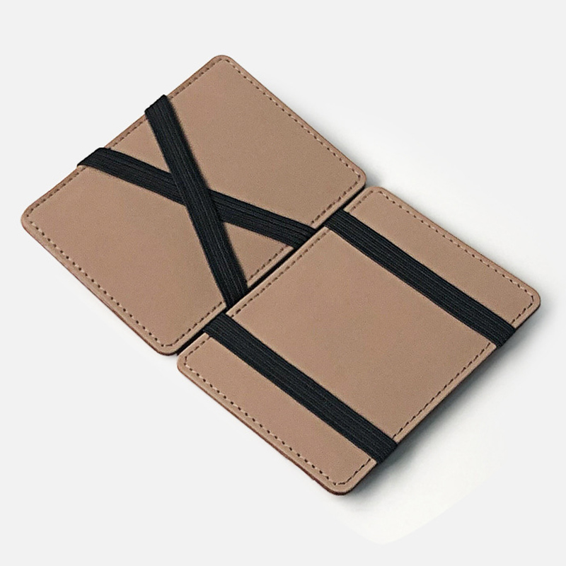 New Men Wallet Small Size Magic Band Solid Color Card Holder Coin Purse SCI88