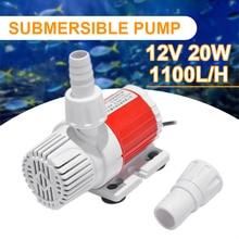 Bomba de agua sumergible de ahorro de energía, 12V, 20W CC, 1100L/H, bomba de agua marina controlable de velocidad ajustable, pecera, acuario