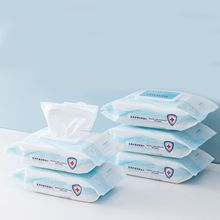 80 Sheets Sterilized Wet Wipes Disposable Hand Sanitizing Disinfecting Tissue