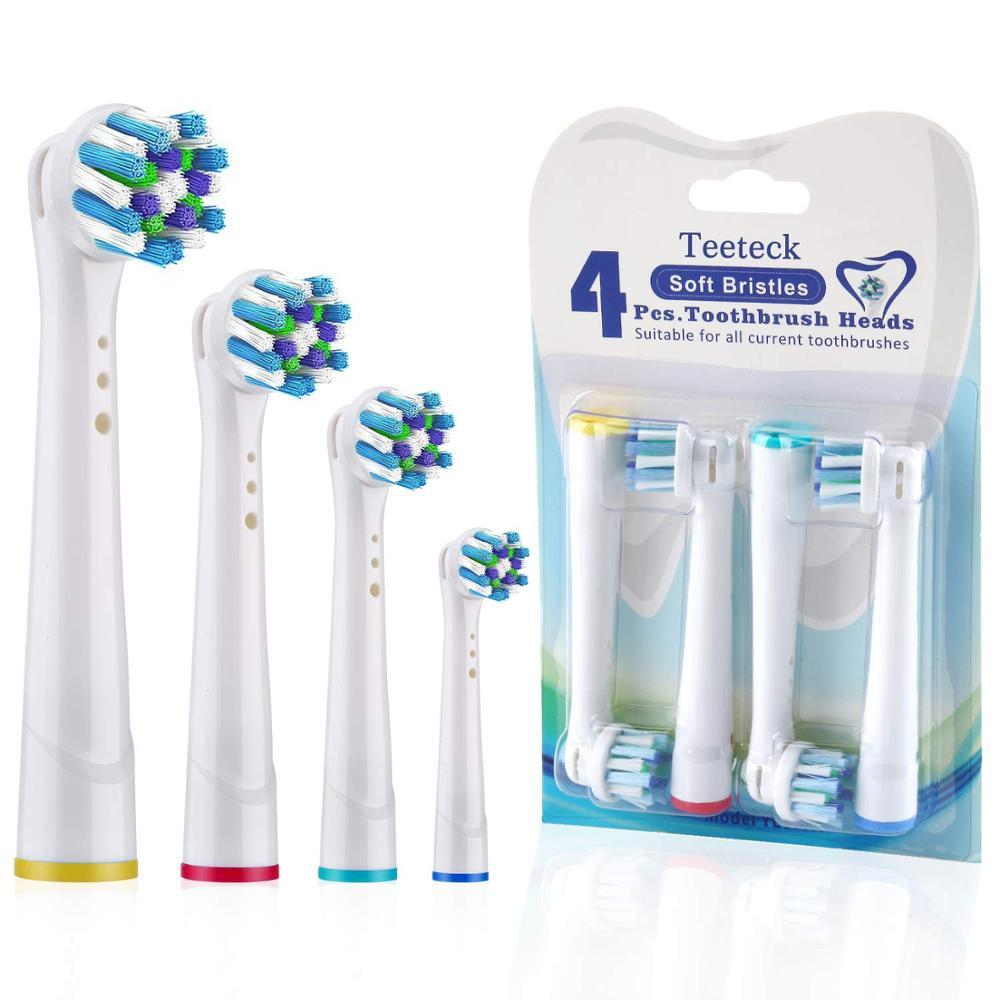 4 stücke Empfindliche Gum Pflege Zahnbürste Köpfe Für Oral B Zahnbürste Kopf Weichen Borsten, vitalität Dual Sauber Cross Aktion Pinsel Kopf