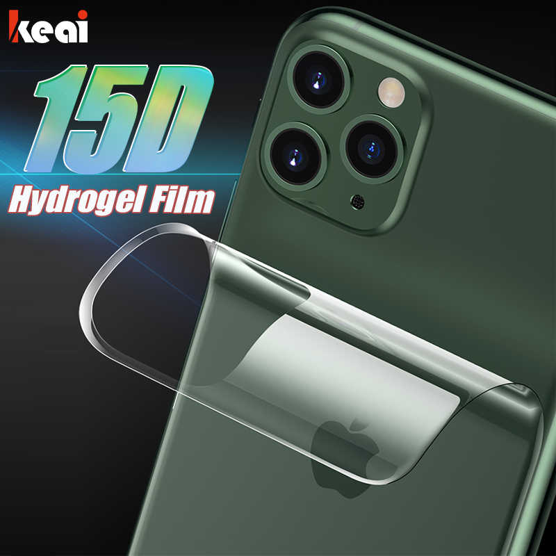 15D Back Full Cover Hydrogel Film For iPhone 11 6 6S 7 8 Plus Screen Protector For iPhone 11 Pro XS Max XR X Soft Film Not Glass